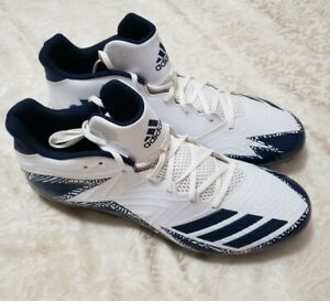ADIDAS Mens Football-Soccer Cleats Blue & White Size US 15 CLU 600001