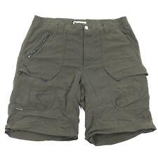 COLUMBIA Omni Dry VENTURE II Shorts 100% Nylon Green CARGO Hiking Outdoor 34
