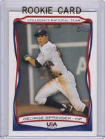 GEORGE SPRINGER Topps USA Baseball 2010 ROOKIE CARD Astros RC National Team!
