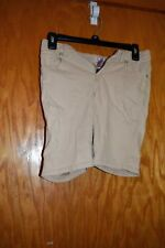 ebca1cac5f2f Pantalones cortos de mezcla de algodón uniformes de color Beige ...