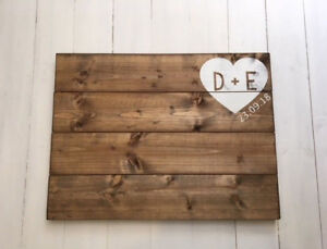 Personalised Wooden Guest Book, Wedding - Guest Book Alternative,Gift for couple