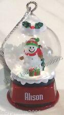 Personalized Snow Globe Ornament - Alison - FREE Shipping