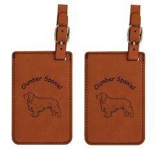 L2152 Clumber Spaniel Luggage Tags 2Pk Free Shipping 200 Breeds Available