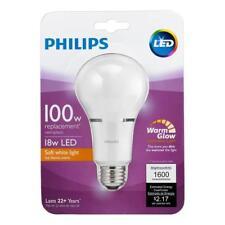 PHILIPS LED LIGHTBULB 100w Equivalent Soft White Light Household A21 WarmGlow