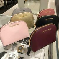 Michael Kors Medium Large Makeup Cosmetic Leather Travel Case Pouch Bag Black MK
