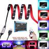 2M 5050 RGB LED Strip Light Multi Color TV Back Light Lamp USB Remote Control 5V
