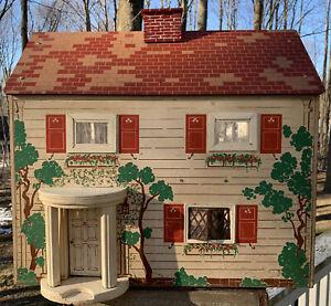 Very Vintage GRANDE Colonial Dollhouse