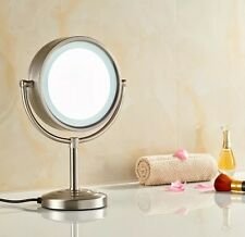 GURUN 8.5-Inch Tabletop Double-Sided Lighted Mirror with 7x Magnification New