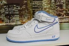 Nike Air Force 1 Mid White Columbia Blue 2001 Basketball Sneakers Sz 11