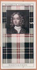 Macpherson Family Clan Celtic Tartan Pattern Scotland Kilt c90 Y/O Trade Ad Card