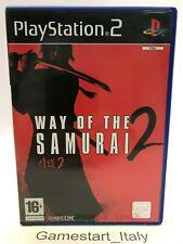 WAY OF THE SAMURAI 2 - SONY PS2 - VIDEOGIOCO USATO PERFETTAMENTE FUNZIONANTE PAL
