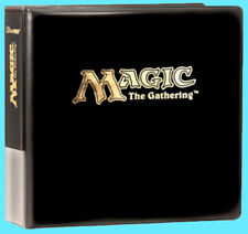 Ultra Pro MAGIC THE GATHERING GOLD STAMPED 3-RING Card Storage Binder mtg album