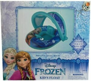 Infant Pool Float with Sun Canopy Frozen Anna Elsa Inflatable Infant Ages 1-2