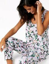 Ladies Womens Light Blue White Spot Short Sleeve Pyjama Set ~ RRP £48 ~ SIZE 20