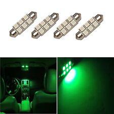 4 Super Green 42mm 578 LED 211-2 Bulbs Festoon 5050 Dome Map Cargo Light 4xE4