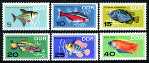 Germany DDR/GDR 865-870, MNH. Tropical Fish in Natural Colors, 1966