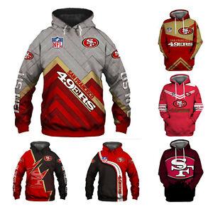San Francisco 49er Hoodies Pullover Hooded Sweatshirt Casual Jacket Fan's Gifts