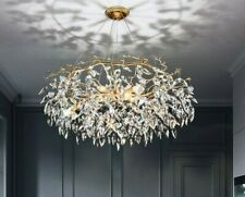 Modern LED Crystal Chandelier Lighting Luxury Home Decoration Living Room Lobby