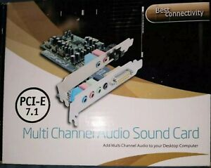Best Connectivity PCI-E 7.1 Multi Channel Audio Sound Card