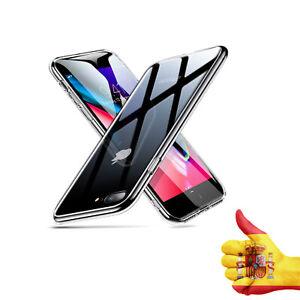 Funda para iPhone 8 Plus/7 Plus + Borde de Silicona Suave -Transparente