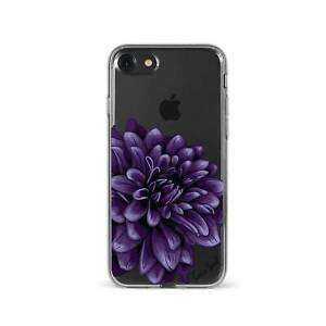 Apple iPhone Case Soft Clear Silicone Slim Fit Shockproof Cover Dahlia Flower