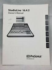 PreSonus StudioLive 16.4.2 Owners Manual