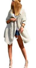 Damen Cardigan Lang Pulli Pullover Strickjacke Wasserfall Oversize S M L XL -665