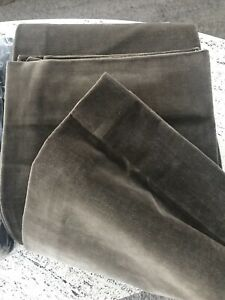 Restoration Hardware Vintage Velvet Drapery Panel Curtain - Cafe $600