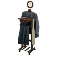 Winsome Trading Valet Stand with Mirror, Drawer, Tie Hook, Casters 94155 New