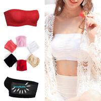 Women Tube Top Bra Strapless Wrapped Chest Breathable Bras Sport Bra Underwear