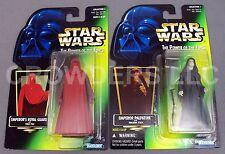 Star Wars PotF Emperor Palpatine & Royal Guard Green Hologram Card Kenner 96 NIP