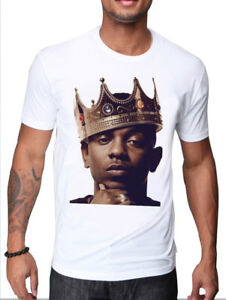 KENDRICK LAMAR HIP HOP STAR CELEBRITY RAPPER WITH A CROWN KING T SHIRT DESIGN