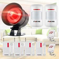 FUERS AS300 Wireless Home House Security Strobe Alarm Siren Sensor Detector Kit