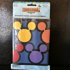 Disney Mickey Mouse Wall Border Decorative Wallpaper 5 Yards Pre-pasted New
