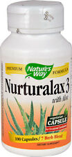 Nature's Way Herbal Laxante 100 vegetariano Tapas nurturalax 3 mezcla de hierbas con Aloe 7