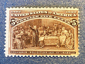US Stamps-SC# 234 - 5 Cent - MH - SCV = 50.00