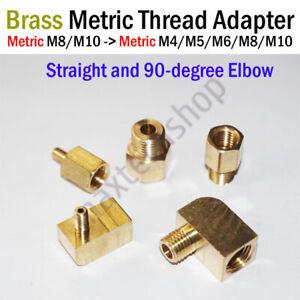 Brass Metric Thread Female M8/M10 Male M4/M5/M6/M8/M10 Adapter Connector Fitting