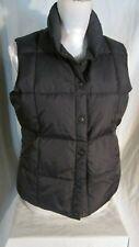 Land's End Woman's Down Vest Sz XS (2-4) Black Nylon Goosedown & Feathers