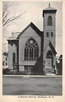CHATHAM NEW YORK THE LUTHERAN CHURCH J V CUTLER POSTCARD