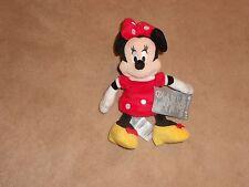 "New, Disney Store Minnie Mouse Red Mini Bean Bag Plush, 9 1/4"""