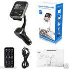 Wireless Bluetooth Car Kit MP3 Player FM Transmitter Modulator USB SD LCD Remote