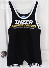Inzer Advance Designs Power Lifting Singlet Body Building Gym Suit Black- M NEW