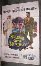 HEAVEN KNOWS MR. ALLISON orig 1957 one sheet poster DEBORAH KERR/ROBERT MITCHUM