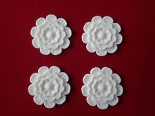 Apliques de resina de flor Decorativo 4x-Muebles/puerta moldeo Onlay Shabby Chic
