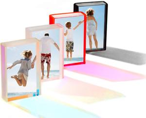 WINKINE 2x3 Instax Picture Frame, Fujifilm Polaroid Frameless Acrylic Frame