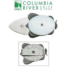 CRKT - ASHWORTH TURTLE Polished White Folding Knife Pendant Money Clip 5900W NEW