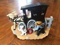 Amish Wall Plaque Horse Buggy Burwood  3340-2 1995 3 dimensional wall decor