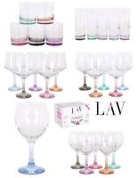 LAV PASTEL BASE Wine cocktail beer Highball Tumblers drinking glasses