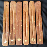 Wooden Incense Stick Holder Burning Joss Insence Ash Catcher Insense Burner #H8