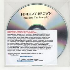 (GN459) Findlay Brown, Ride Into The Sun - 2015 DJ CD